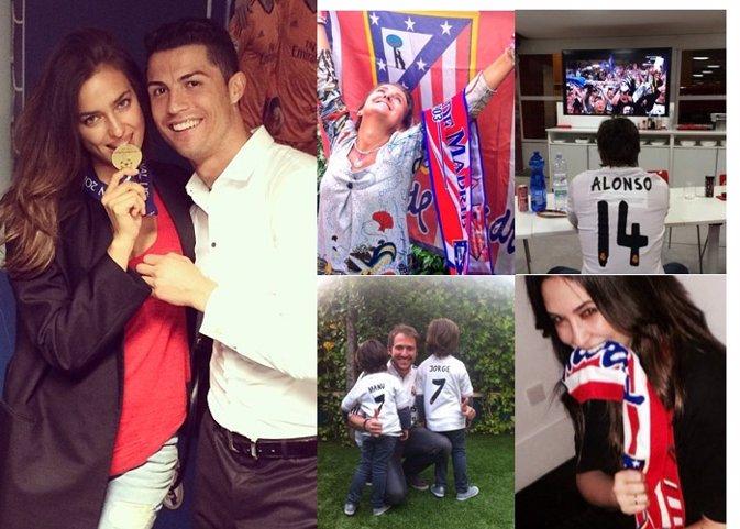 Nuestros famosos, autenticos hincgas del Real Madrid y el Atléti
