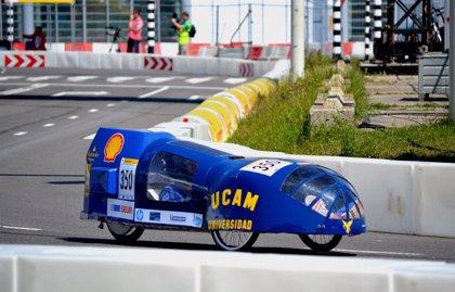 El coche solar de la UCAM, único de la Región en obtener una marca oficial en la Shell Eco-Marathon de Rotterdam