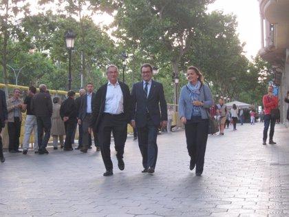 Mas, Tremosa y Duran llegan al Majestic para seguir la noche electoral
