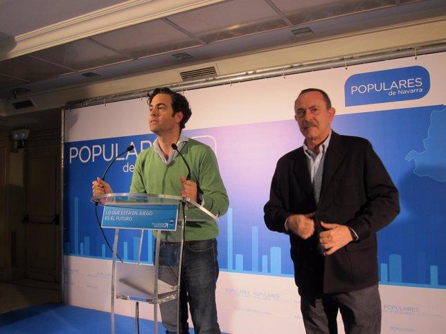 Zalba y Enrique Martín de Marcos valorando el resultado de las elecciones