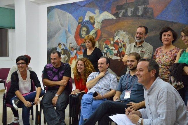 José Antonio Castro, Rafael Rodríguez, Antonia Morillas y otros miembros de IU
