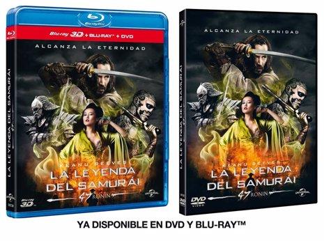 DVD de La Leyenda del Samurái (47 Ronin)