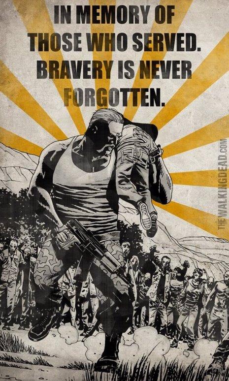The Walking Dead homenajea a los caídos