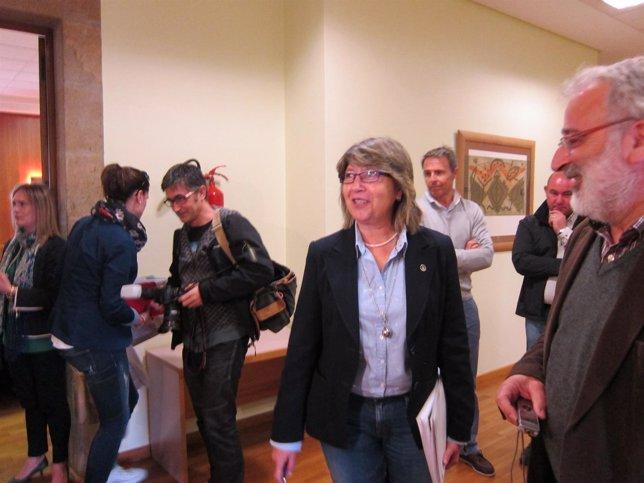 Rosa Quintana en declaraciones a los medios
