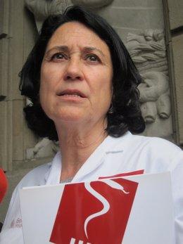La vicepresidenta y delegada de Metges de Catalunya, Teresa Fuentelsaz