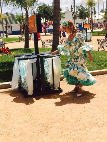 El volumen de residuos en limpieza viaria baja más del 50% en los primeros días de Feria