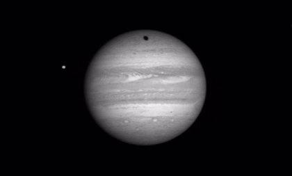 Tránsito triple de las lunas de Júpiter el 3 de junio