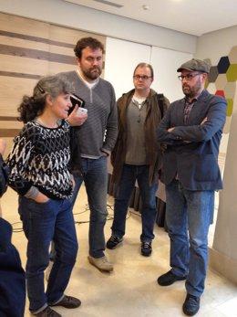 Lidia Senra, Rubén Pérez, Juan Martínez y Martiño Noriega, AGE EN EUROPA