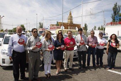 Profesionales del taxi renuevan su compromiso con la donación de órganos desde la Feria de Córdoba