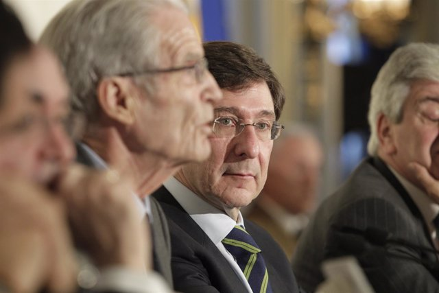 El presidente de Bankia José Ignacio Goirigolzarri en un desayuno informativo