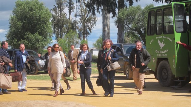 La Reina Sofía visita Doñana.
