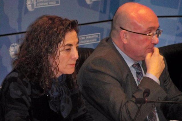 Cristina Uriarte con Patxi Baztarrika