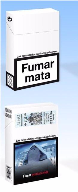 Cajetilla de tabaco 50%