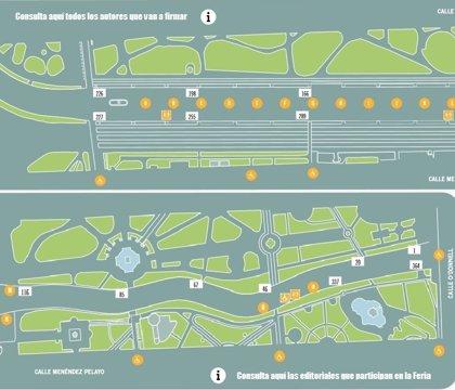 Mapa para no perderse en la Feria del Libro de Madrid