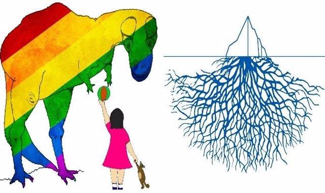 Ilustraciones de los dos poemarios