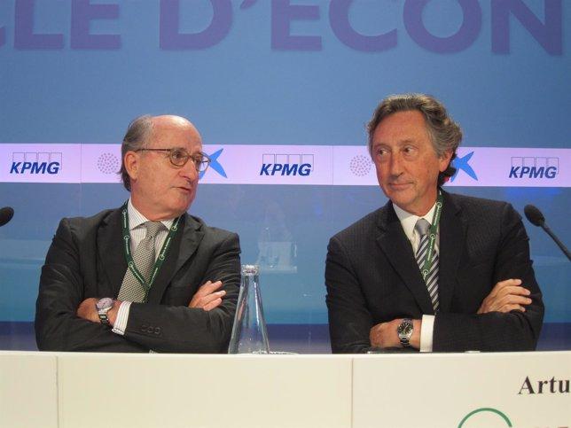 El presidente de Repsol A.Brufau y el presidente de Agrolimen A.Carulla