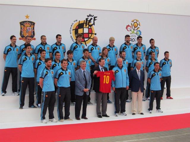 Mariano Rajoy Con La Selección Española