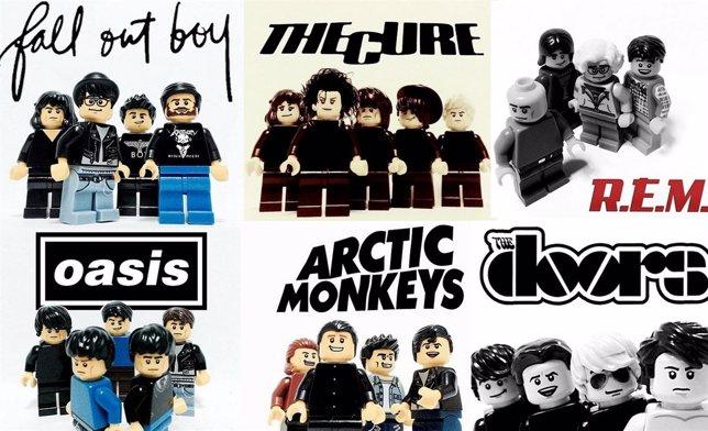 20 Grupos Rockeros En Versión Lego