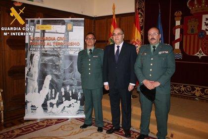 Una exposición homenajea en Teruel a los guardias civiles víctimas de terrorismo