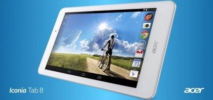 Acer anuncia el Iconia Tab 8 y nuevos smartphones