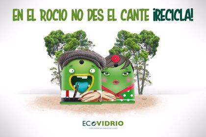 Diputación y Ecovidrio ponen en marcha una campaña para sensibilizar en reciclaje de vidrio durante El Rocío