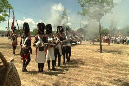 Un centenar de personas recrean la Guerra de la Independencia