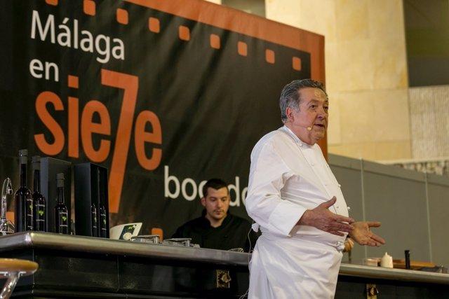El cocinero Adolfo Jaime en Fycma Festival Málaga Food and Wine