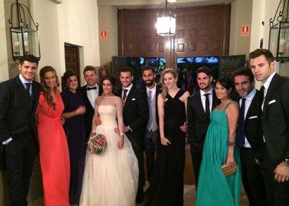 ¡El Real Madrid se va de boda! Nacho Fernández se casa rodeado de amigos madridistas