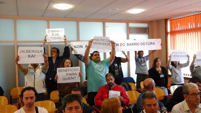 Pleno municipal en Vigo sobre plan Barrio do Cura