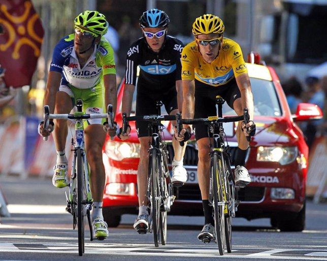 Nibali, Wiggins y Froome, Tour de Francia