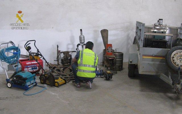 Detenido por robar en fincas de Carmona (Sevilla)