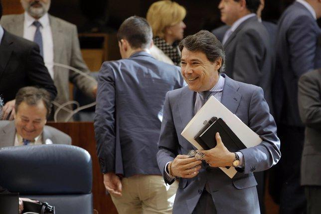 Ignacio González en la Asamblea de Madrid