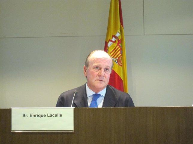 Enrique Lacalle en la presentación del SIL