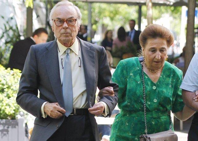 Carlos Zurita junto a la Infanta Margarita en una umagen de archivo