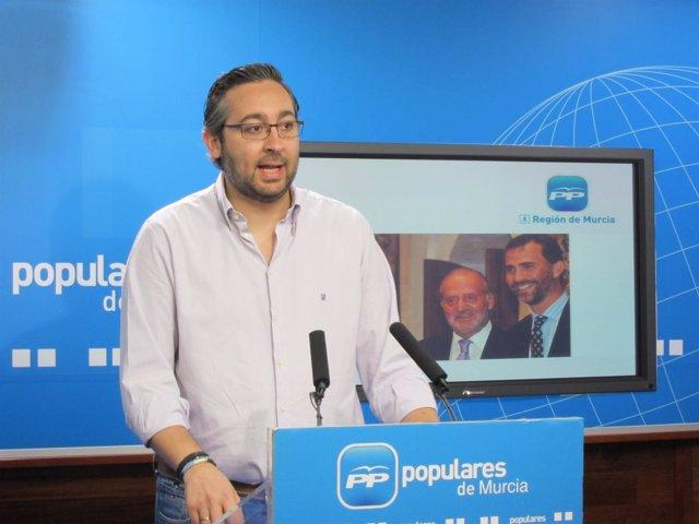 El portavoz adjunto del Partido Popular de la Región de Murcia