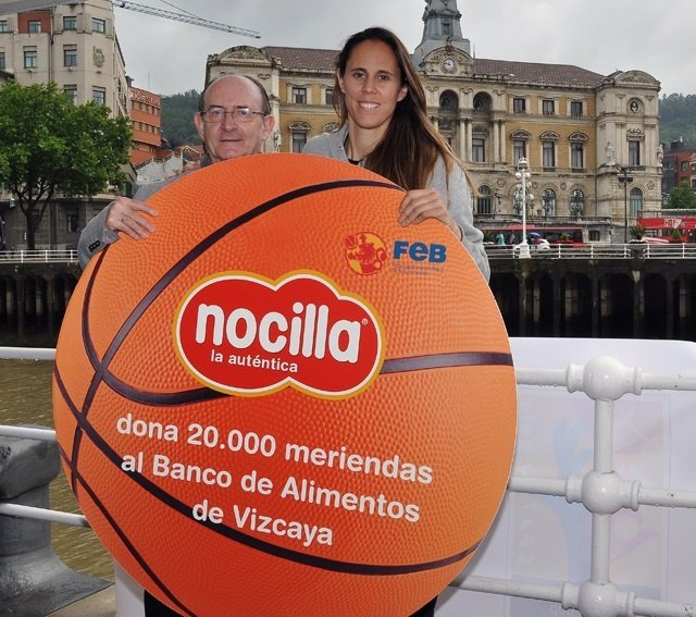 Amaya Valdemoro en un acto de Nocilla