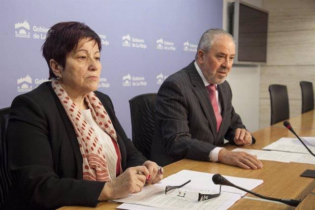 El consejero Jose Ignacio Nieto y la directora general
