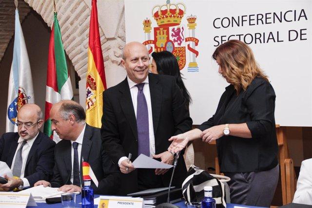 Conferencia sectorial de cultura en Toledo con el ministro Wert