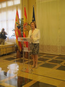 La presidenta del Gobierno de Aragón, Luisa Fernanda Rudi.