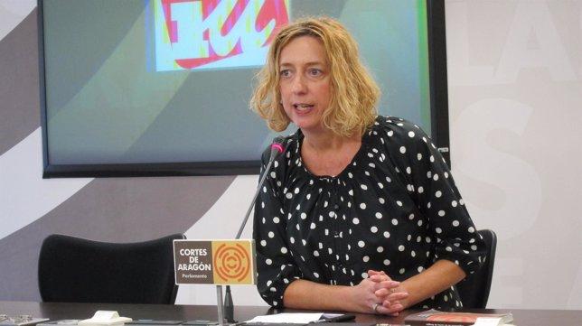 La portavoz de IU en las Cortes de Aragón, Patricia Luquin