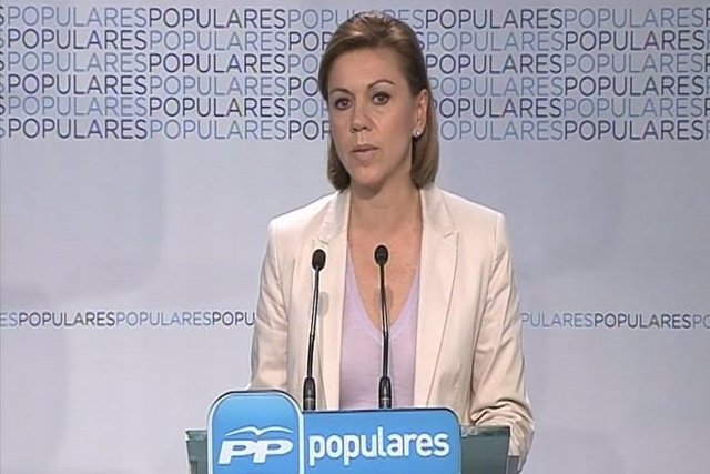 "Cospedal manifiesta la ""lealtad"" del PP a la Corona"