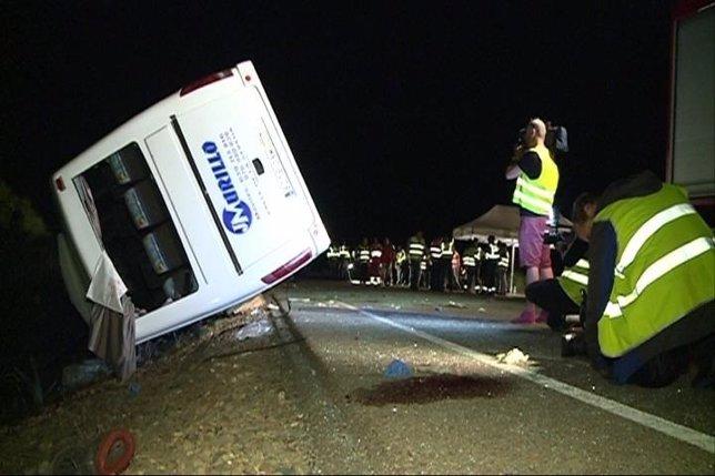 Accidente de autobús en Castuera, Badajoz