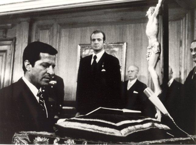Investidura de Adolfo Suárez como Presidente del G