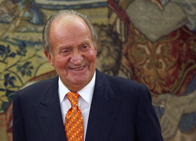 File photo of Spain's King Juan Carlos during an audience at the Zarzuela Palace