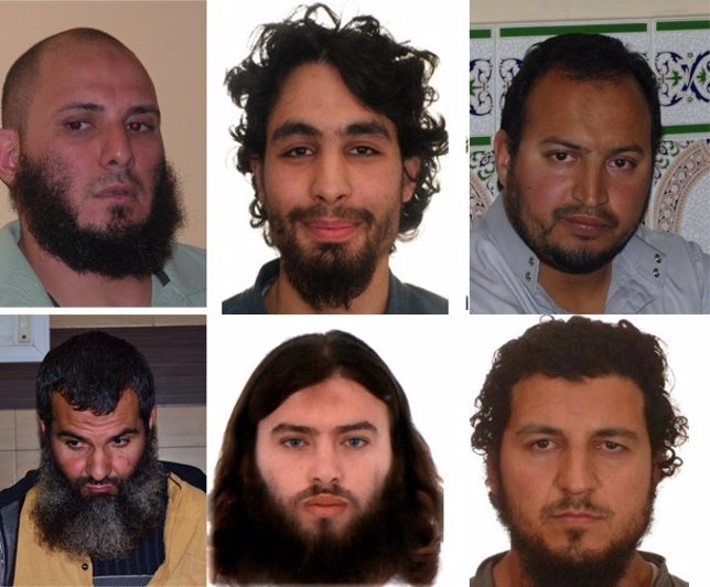 Detenidos en la operación contra la red yihadista