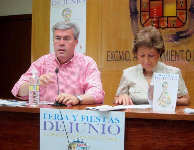 Fernández de Moya y Nestares presentan la feria de la Virgen de la Capilla 2014.