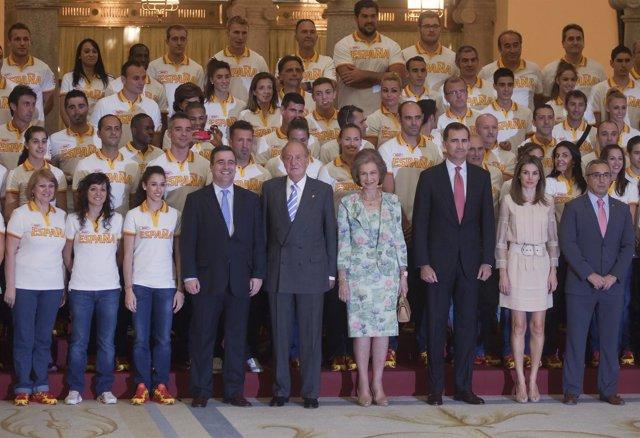 Recepción delegación olímpica