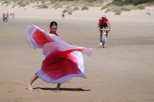 Sara Baras rueda el spot de la Vuelta 2014