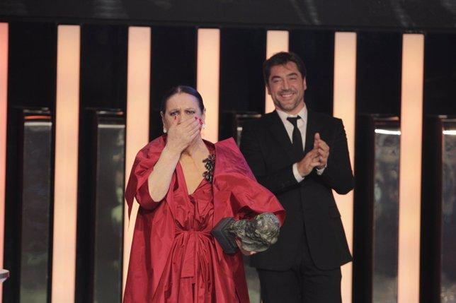 Terele Pávez en los Premios Goya 2014