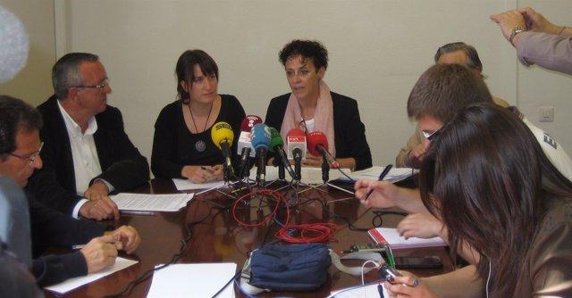 Presentación de la moción conjunta de PSOE e Izquierda Unida